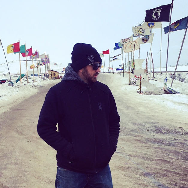 Visiting Standing Rock to deliver supplies and original music, 2016