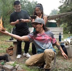 Cypher CURE fire-making community environmental workshop, 2018