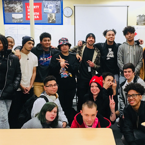 Hip-hop lyricism & Recording Art class at Reynolds High-School, 2017