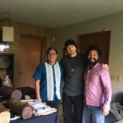 Recording w/ Ramiro Ramirez Traditional Mexica Musician, 2018