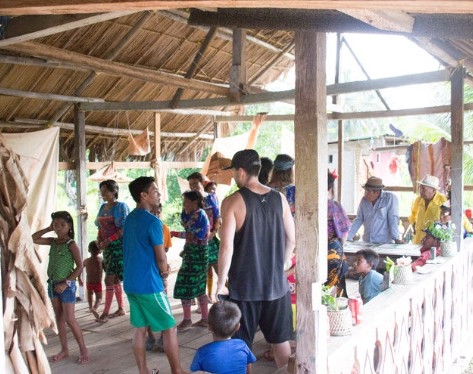 Cultural exchange with the traditional elders of Guna Yala, Panama, 2018