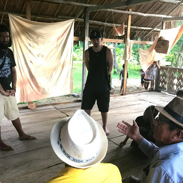 Sharing lyrics for elders of Guna Yala, Panama, 2018