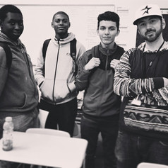 Teaching Reynolds High-School music production class, 2016