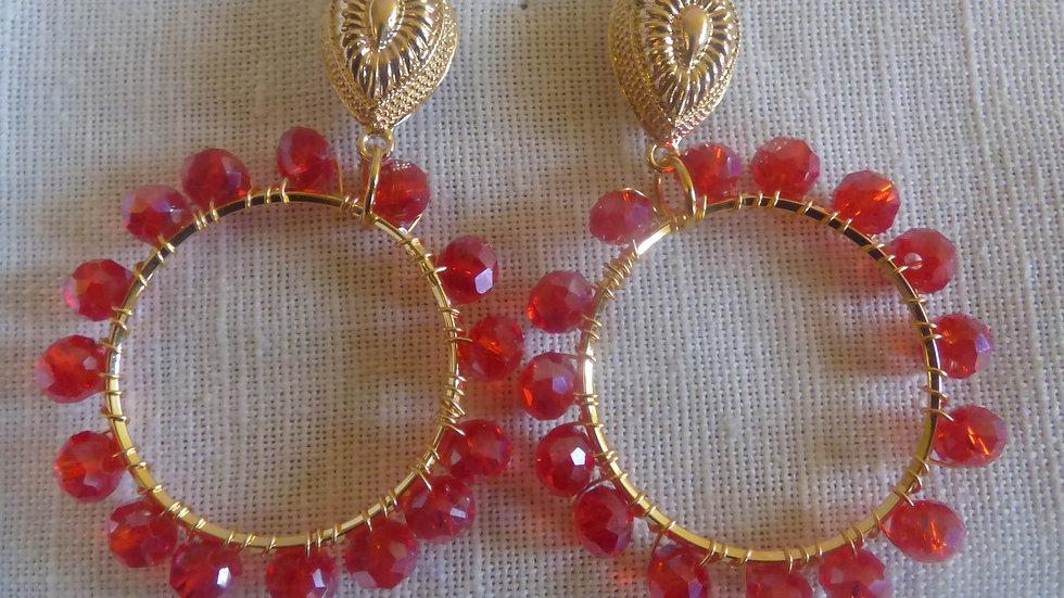Pippa earrings- red