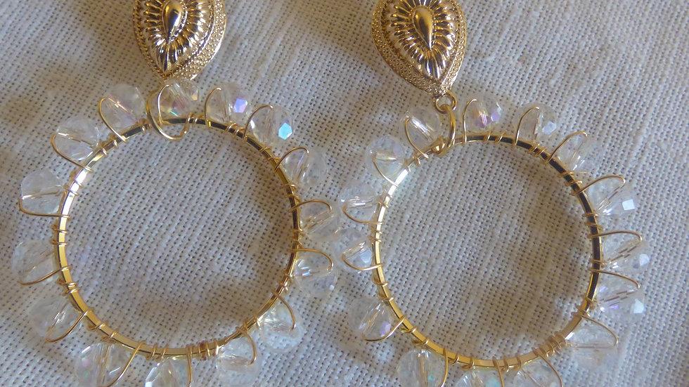 Pippa earrings- clear
