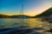 coucher de soleil sur le Fjord du Saguen