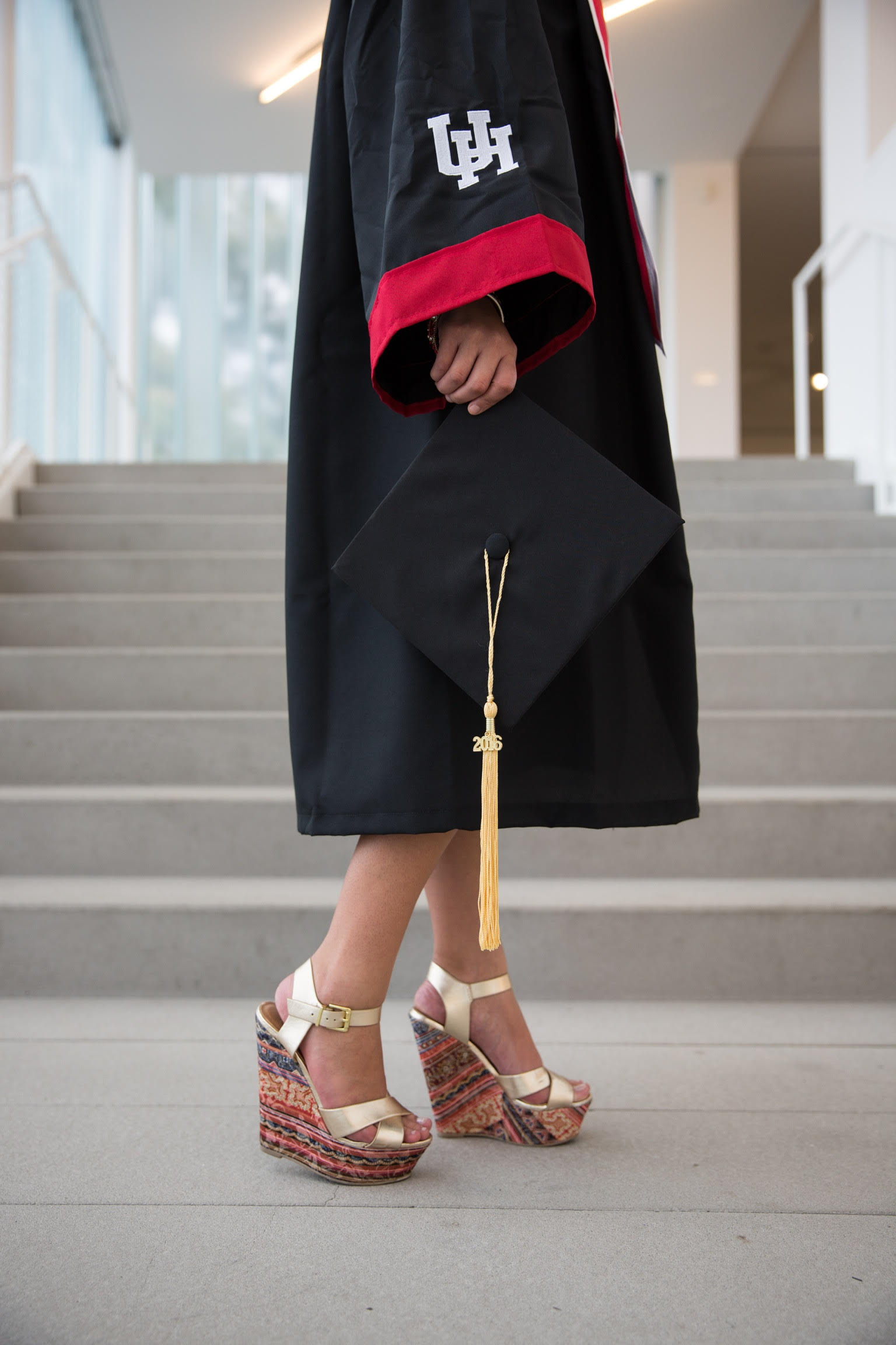 Graduate Cap and Heels Portrait