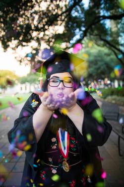 Confetti Graduation Portrait
