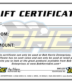 BHE GIFT CERTIFICATE