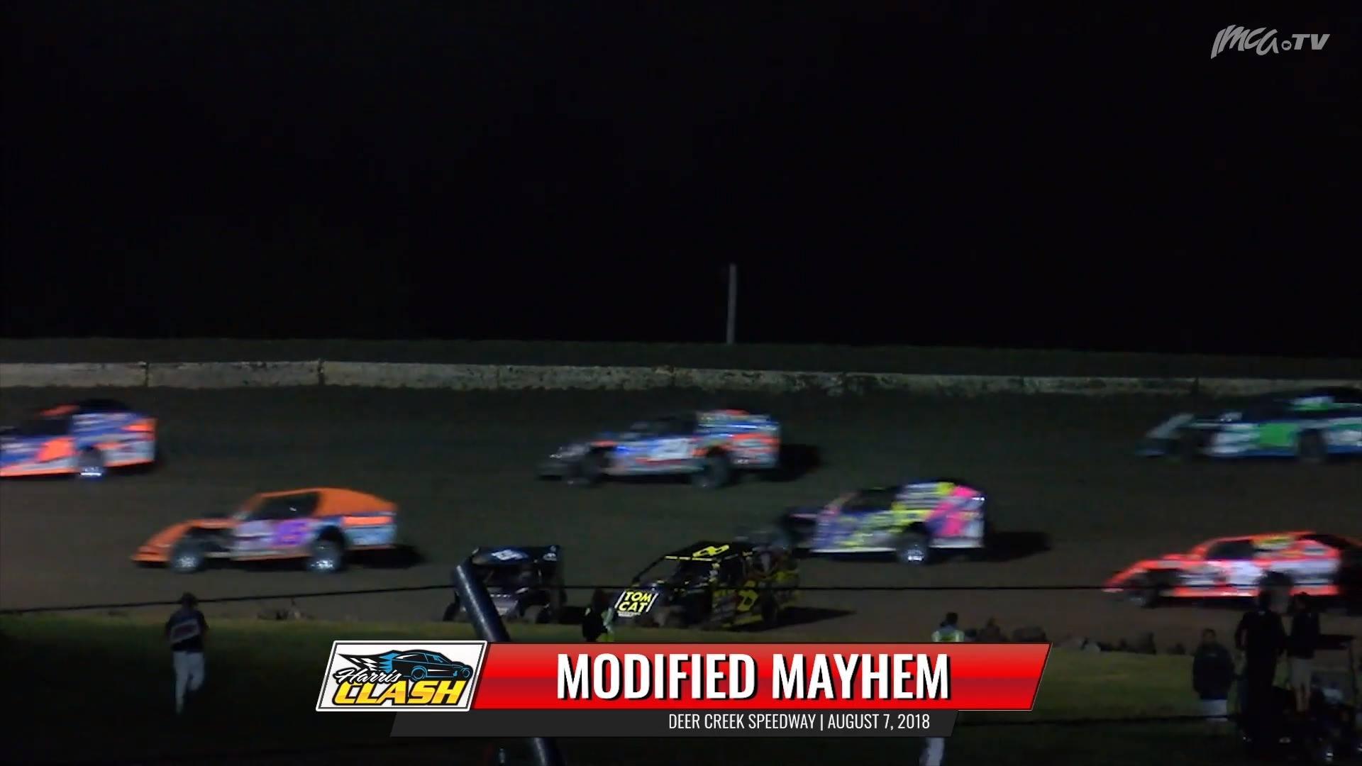 8/7/18 Highlights Modified Feature Crash Deer Creek Speedway
