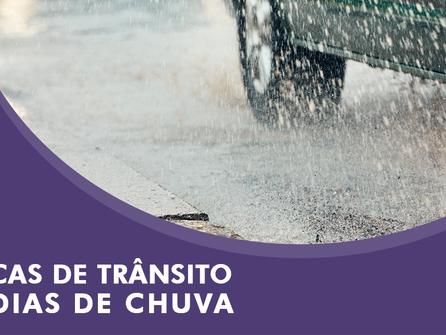 7 Dicas de trânsito em dias de chuva