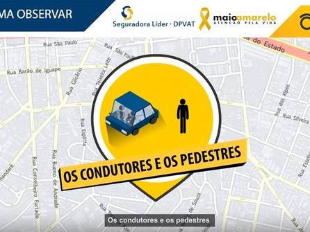 Faça escolhas seguras e ajude a garantir a segurança do pedestre