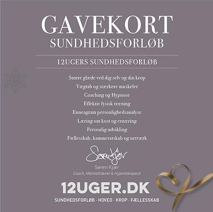 Gavekort til 12uger.dk sunhedsforløb