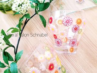 キルンアートweb限定の花づめグラス