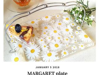 マーガレットのガラスプレート
