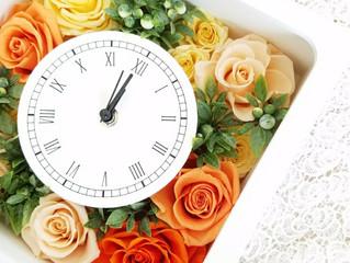 【オーダー】ビタミンカラーの花時計