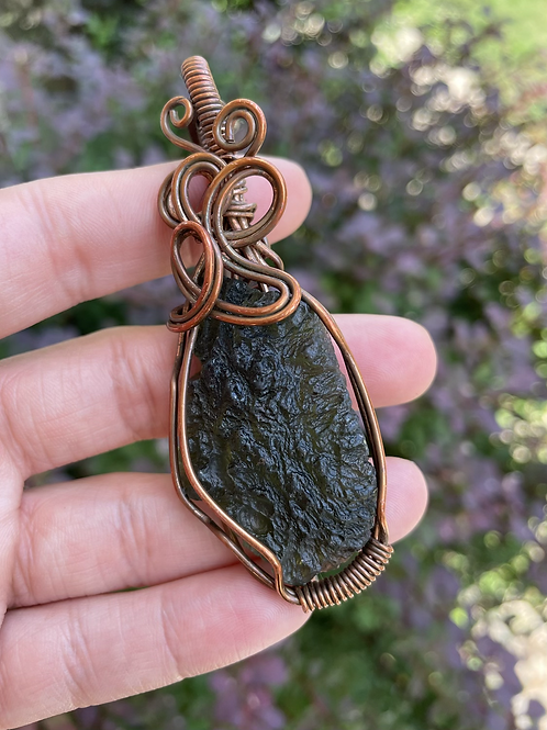 Large Moldavite Amulet