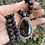 Thumbnail: Tourmalilated Quartz & Lotus Seed Necklace