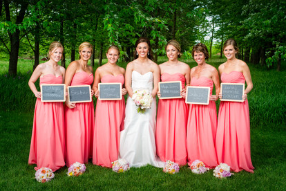 Bridesmaids with Chalkboards