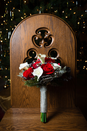 Christmas Wedding Bridal Bouquet