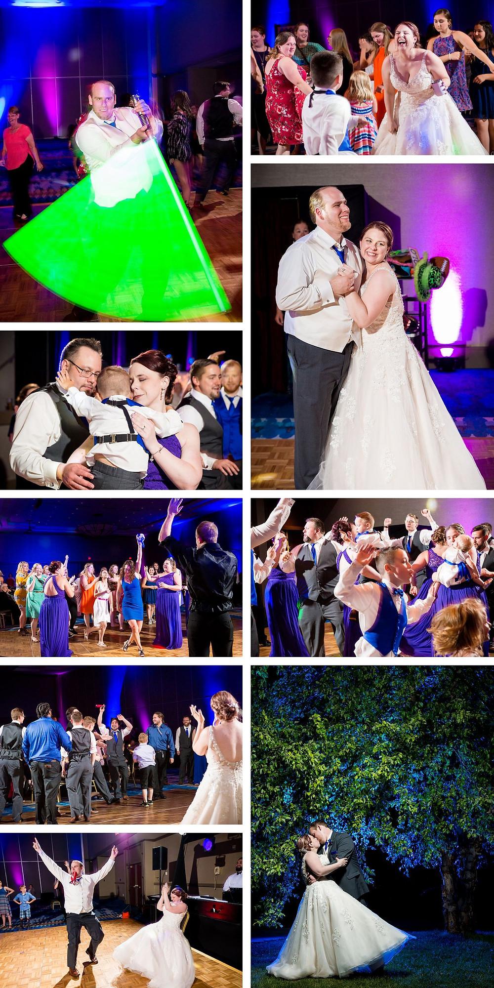 Light saber wedding photograph Lanari Photography Radisson Green Bay Wedding Photographer