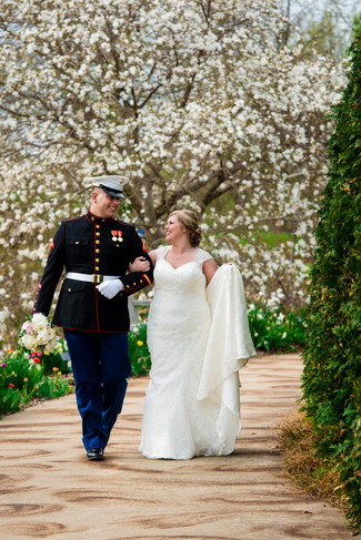 Spring Wedding Portrait at Green Bay Botanical Garden