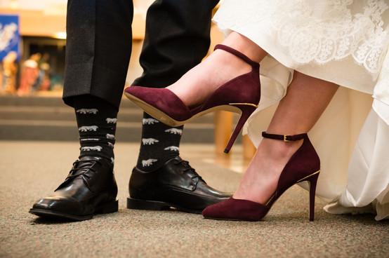 Winter Wedding Shoe Detail