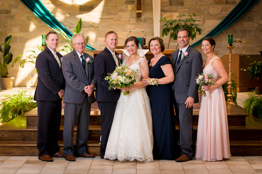 Family Wedding Portrait at Our Lady of Lourdes, DePere WI