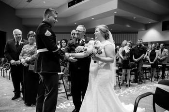 Bride and Groom Wedding Ceremony Green Bay