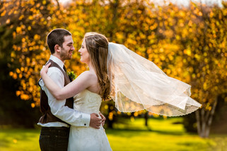 Fall Sunset Wedding Portrait Homstead Meadows Appleton WI