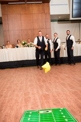 Cornhole Kissing Game at Wedding Reception