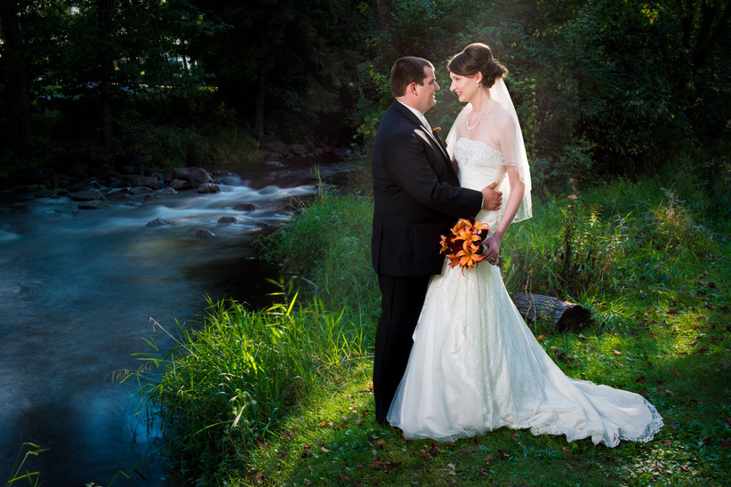 Wedding Portrait by Waupaca River