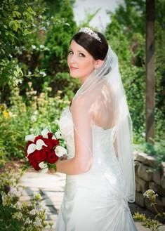 Summer Bride Garden Portrait