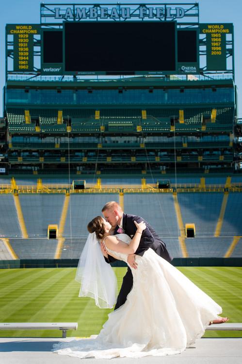 Lambeau Field Wedding Photo
