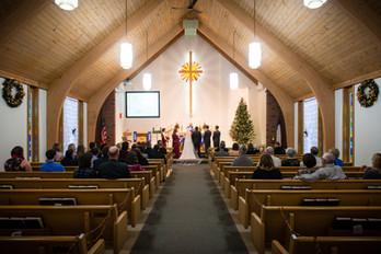 St Bartholomew Church Brillion Winter Wedding