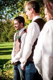 Fall Wedding Ceremony Homestead Meadows Appleton WI