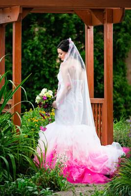 Bridal Portrait with Pink Dress