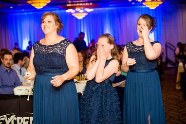 Bridesmaids Playing Wii Bowling