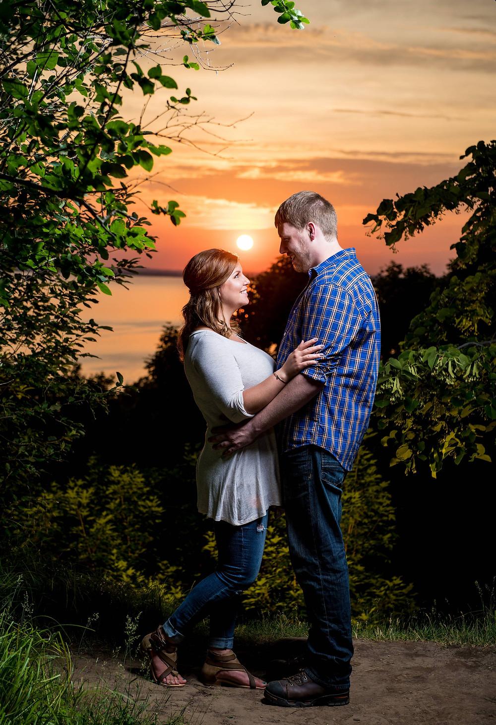 High Cliff Wisconsin Sunset Engagement | Lanari Photography