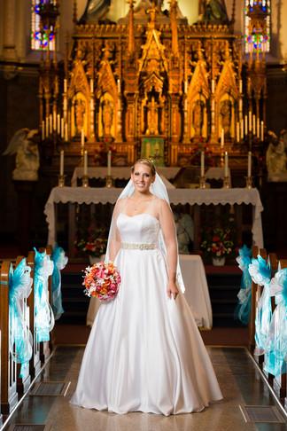 Photo of Bride in Catholic Church