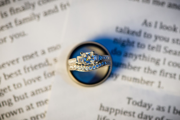 Wedding Ring Detail with Vows