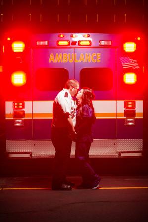 Ambulance Engagement Portrait Lanari Photography