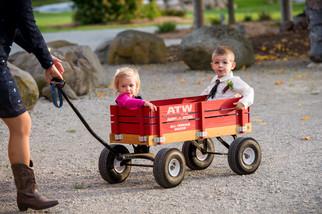 Children in Wagon Homestead Meadows Appleton WI