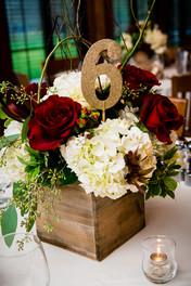Milwaukee Wedding Centerpiece Bank of Flowers | Lanari Photography