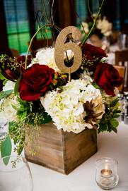 Milwaukee Wedding Centerpiece Bank of Flowers   Lanari Photography
