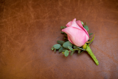 Groom Boutonnierre with Pink Rose