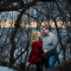 Winter Engagement Session High Cliff State Park Wisconsi