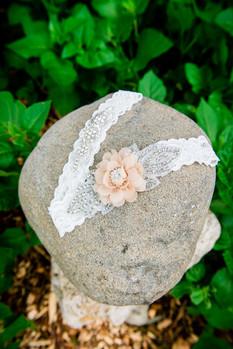 Lace Wedding Garter Detail
