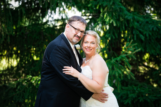 Summer Wedding Couple Portrait