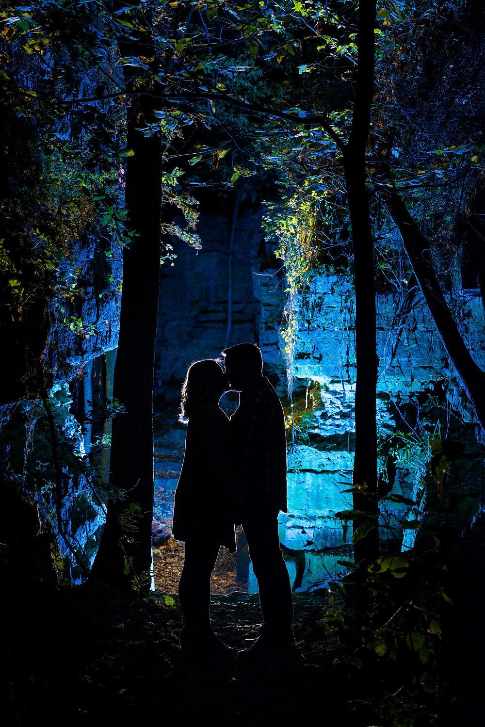 Night engagement session Wisconsin | Lanari Photography